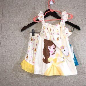 Disney Store Beauty & the Beast Shorts Pajama Set